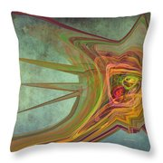 Snail In The 30th Century Throw Pillow