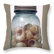 Snail Motel Throw Pillow