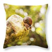 Snail Of A Time Throw Pillow