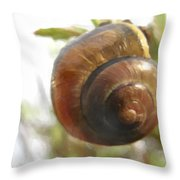 Snail Watercolor - Digital Painting Effect Throw Pillow