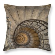 Snailing Stairs Throw Pillow