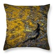 Snake Bird Throw Pillow
