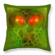 Snake Eyes Throw Pillow