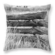 Snake Fence  Throw Pillow
