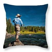 Snake River Cast Throw Pillow