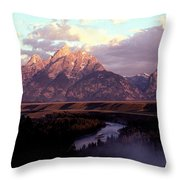 Snake River Overlook At Dawn  Throw Pillow