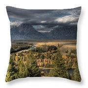 Snake River Storm Throw Pillow