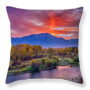 Snake River Sunrise Throw Pillow