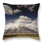 Snake River Valley Grand Teton Np Throw Pillow