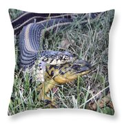 Snake With Legs Throw Pillow