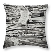 Snakes And Commuters Throw Pillow