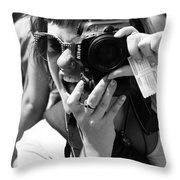 Snap Chat  Throw Pillow