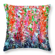 Snapdragons Poster Throw Pillow