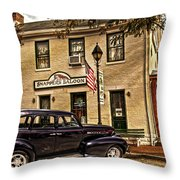 Snappers Saloon Ripley Ohio Throw Pillow