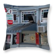 Snappy Lunch Mt. Airy Nc Throw Pillow