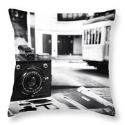 Snapshots Throw Pillow