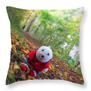 Snebamse Is Here Throw Pillow