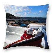 Snebamse On Boat Throw Pillow