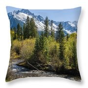 Sneffles And Stream II Throw Pillow