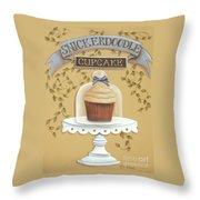 Snickerdoodle Cupcake Throw Pillow