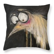 Snipe In The Moonlight Throw Pillow