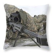 Snipers Provide Overwatch At Fort Throw Pillow
