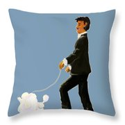 Snooty Poodle Throw Pillow