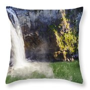 Snoqualime Falls And Pool Throw Pillow