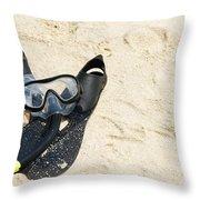 Snorkel Equipment Throw Pillow