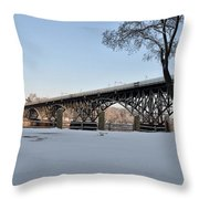 Snow Along Kelly Drive Throw Pillow