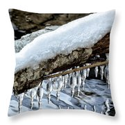 Snow And Icicles No. 1 Throw Pillow