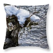 Snow And Icicles No. 2 Throw Pillow