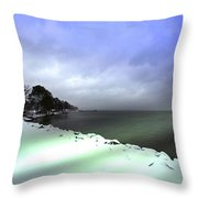 Snow And Sand Unite Throw Pillow