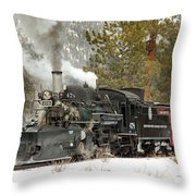 Snow And Steam Throw Pillow
