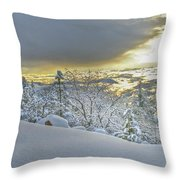 Snow And The Sierra Highway 88 Throw Pillow