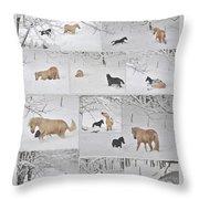 Snow Angels Paso Fino Style Throw Pillow