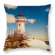 Snow At Cheboygan Crib Throw Pillow