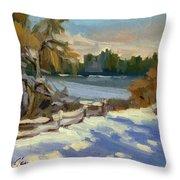 Snow At Martha Lake Throw Pillow