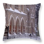 Snow At St. John's Throw Pillow