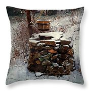 Snow At Twilight Throw Pillow