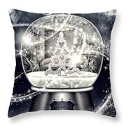 Snow Ball Throw Pillow by Mo T