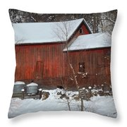 Snow Barn II Throw Pillow