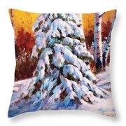 Snow Blanket Throw Pillow