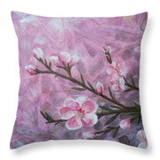 Snow Blossom Throw Pillow