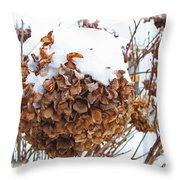 Snow Bonnet Throw Pillow