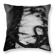 Snow Boots Throw Pillow