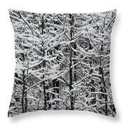 Snow Branches Throw Pillow