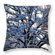 Snow Bright Throw Pillow
