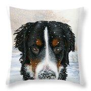 Snow Bumper Throw Pillow