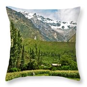 Snow-capped Andes Mountains With Snowline Above 17000 Feet-peru Throw Pillow